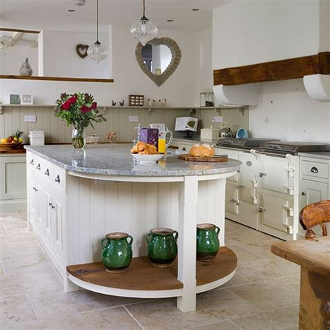 shaker style country kitchen with island kitchen