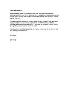 Goodbye Letter Resignation by Resignation Farewell Note Just B Cause