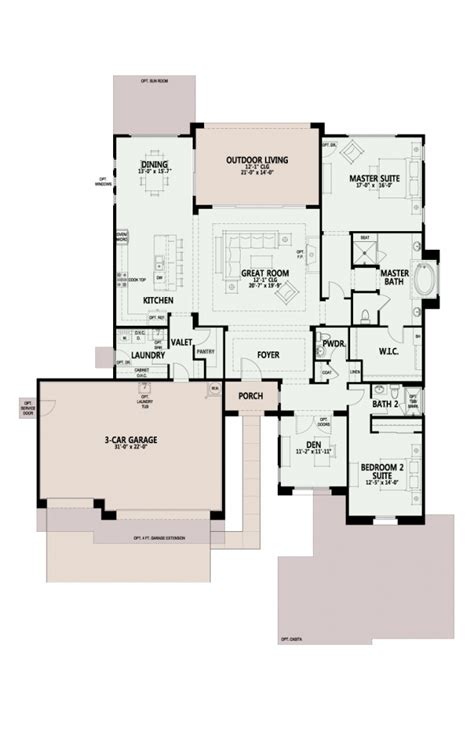 the preserve acacia floor plan has 2500 sf