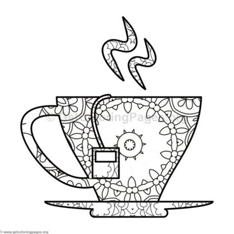 tea cup coloring pages getcoloringpages org