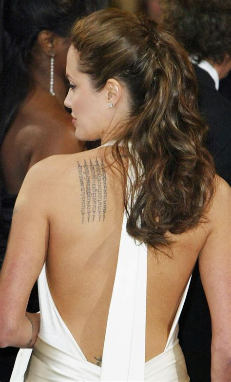 angelina jolie tattoo on chest tattoos gallery world angelina jolie back tattoos