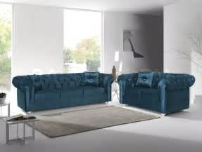 Turquoise Living Room Set Sale 2096 00 Chesterfield 2 Pc Sofa Set Turquoise Sofa Sets Mil 29 Set 7 Nyc Bed