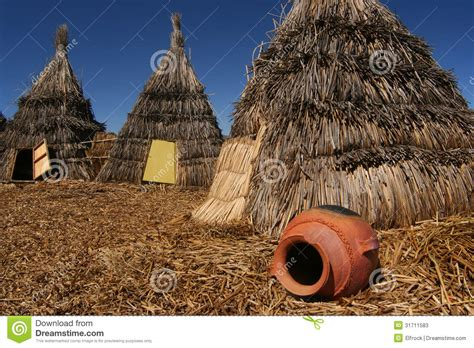 Lake House Plans straw indian tents stock image image of bolivia house