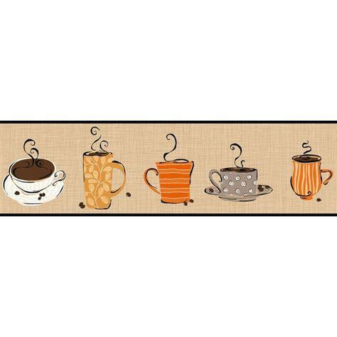 red coffee wallpaper border york wallcoverings bistro 750 coffee mug wallpaper border