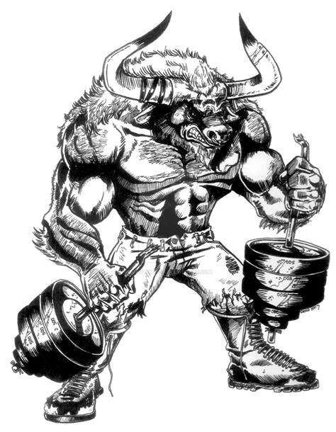 minotaur gym by tonytempest on deviantart