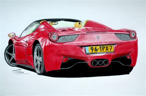 ferrari 458 sketch ferrari 458 spider pencil drawing youtube