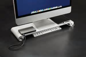 cool desk gadgets the space bar desktop organizer the only thing missing is