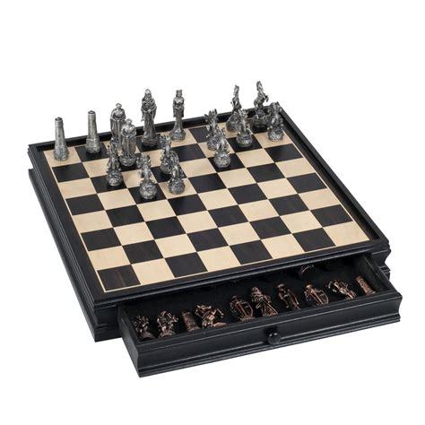 fantasy chess set fantasy chess checkers game set pewter chessmen