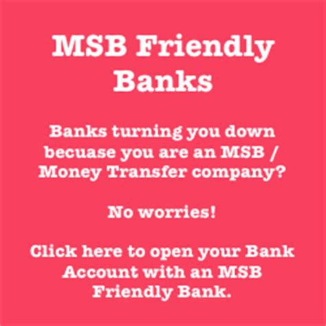 msb bank account can t find msb friendly banks