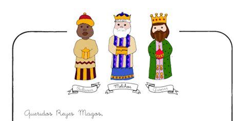 imagenes de los reyes magos con nombres carta a los reyes magos para imprimir gratis pequeocio