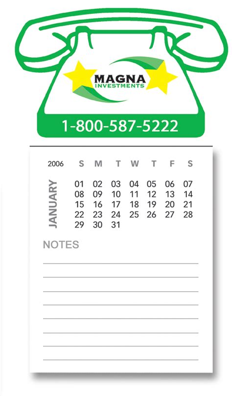Discount Calendar Magnets Logo Premiums Calendar Magnet Card Direct Mail