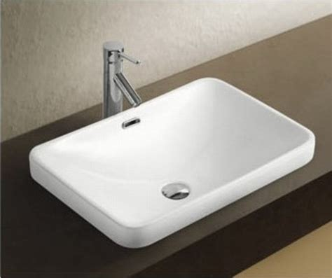 Modern Above Counter Bathroom Sinks Rafina Ceramic Above Counter Basin Bath Decor