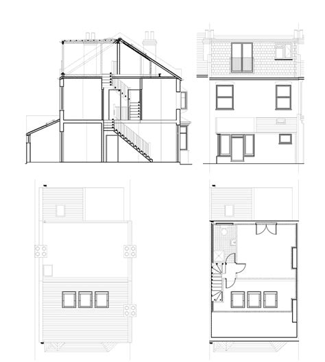 terraced house loft conversion floor plan 1920s 1930s terrace south london lofts