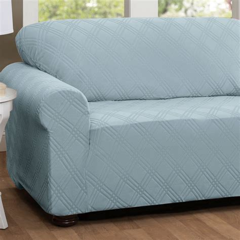 couch stretch slipcovers double diamond stretch sofa slipcovers
