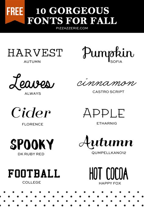 non printable fonts 10 fall fonts to download now pizzazzerie