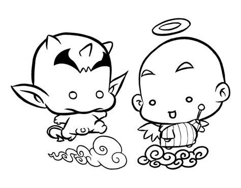 imagenes de angeles y demonios para dibujar a lapiz dibujo de 193 ngel o demonio para colorear dibujos net