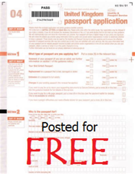 How To Get A Passport At The Post Office by Free Uk Passport Application Form