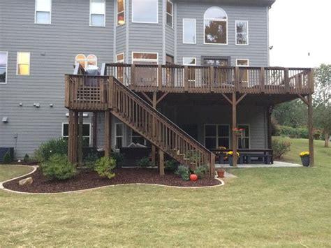 deck with walkout basement designs 25 best ideas about walkout basement patio on