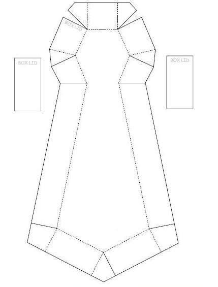 Eu Amo Artesanato: Caixa de gravata com molde