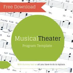 theater program template 1000 images about theater templates on