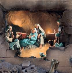charity christmas cards show biblical scenes superimposed