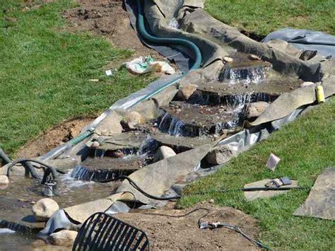 building a backyard stream photographs