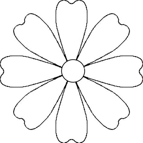 flower template 5 petals flower petal template printable petals exciting free