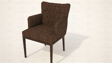 free armchair 3d model chair armchair in the style of baroque download