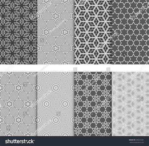 pattern is any decorative motif or design seamless decorative modern geometric patterns set stock