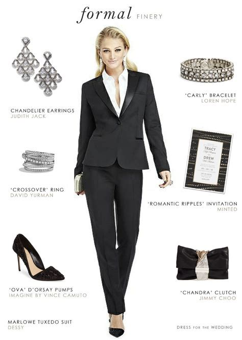 Women's Tuxedo for a Wedding or Black Tie Event   Bridal