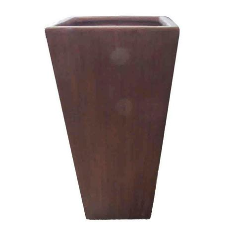 Square Ceramic Planter by 25 5 In H Brown Ceramic Square Tapered Planter