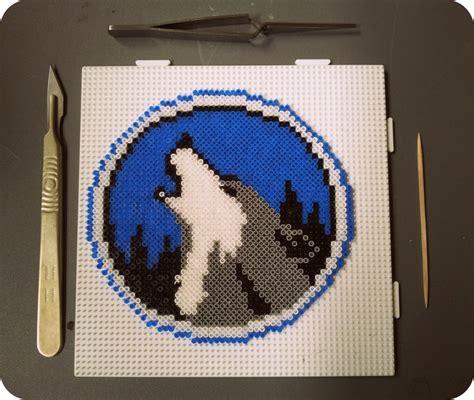 perler bead wolf howling perler wolf houseofbetty