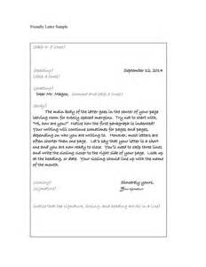 friendly letter template pdf writing a friendly letter template friendly letter and