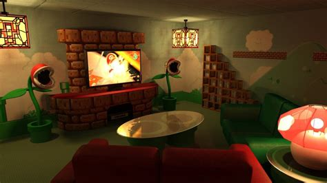 mario themed room mario themed home theater by robertllynch on deviantart