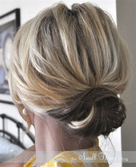 easy messy buns for shoulder length hair 2014 cute easy updo bun for medium hair popular haircuts