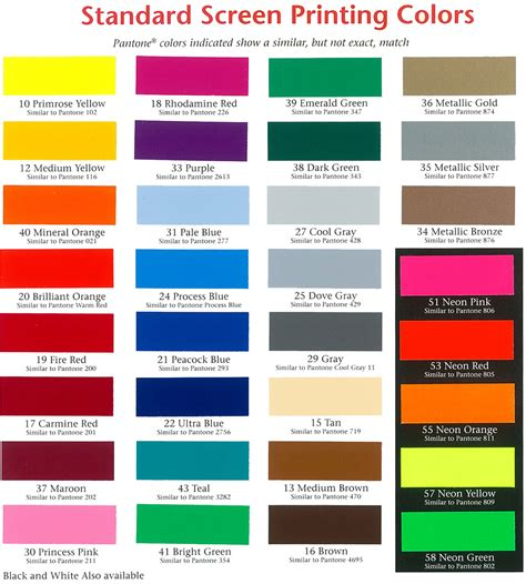 color standards pin standard pms color chart on