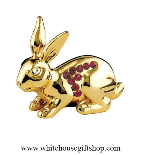 ceramic nature rabbit table l gold birth year of the rabbit table top display ruby