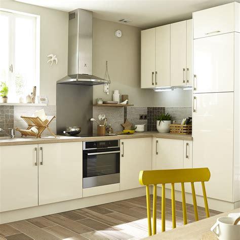 cuisine meubl馥 meuble de cuisine beige delinia perle leroy merlin