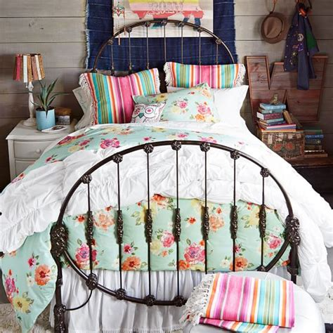 junk gypsy bedroom junk gypsy rodeo iron bed pbteen
