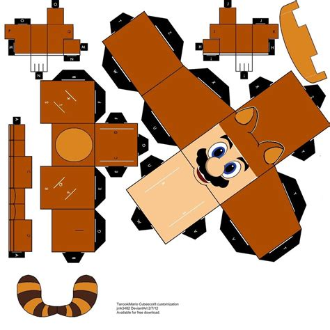 Paper Craft Mario - tanooki mario papercraft cubeecraft by jmk3482 on deviantart
