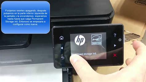 nvram reset hp laserjet resetear restaurar hp laserjet pro mfp m177fw youtube