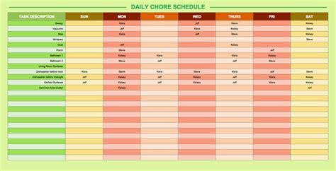 daily schedule templates  excel smartsheet