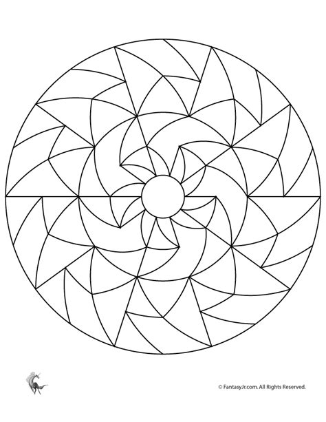 basic mandala coloring pages simple mandalas for simple geometric mandala