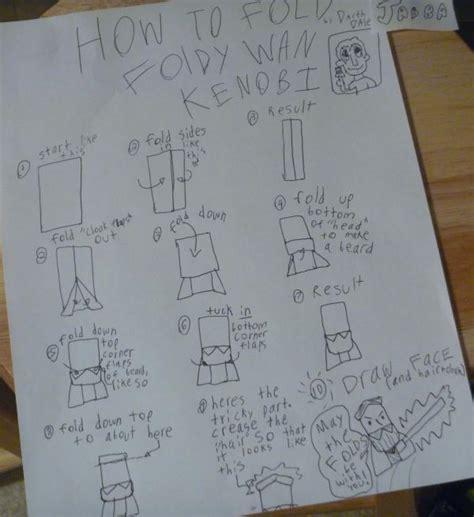 How To Make An Origami Obi Wan Kenobi - how to fold origami obi wan kenobi 28 images new