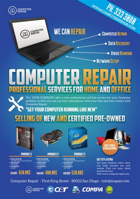 computer repair flyer template free computer repair flyer poster by giunina on deviantart