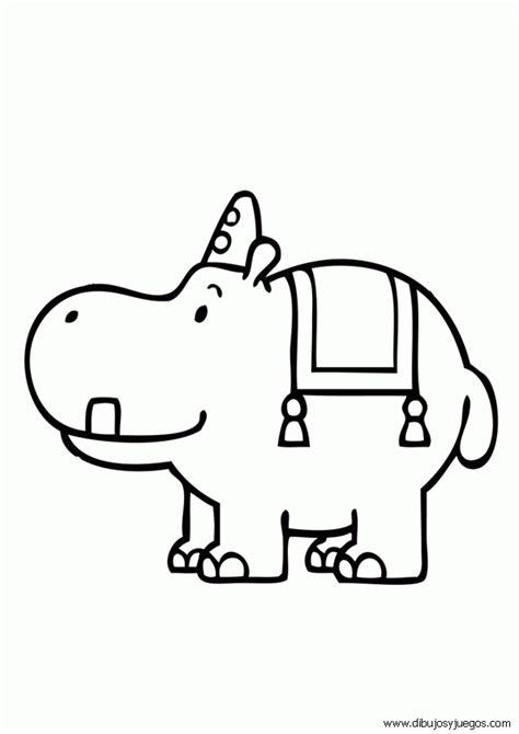 imagenes para colorear hipopotamo circo animales hipopotamo 001 dibujos y juegos para