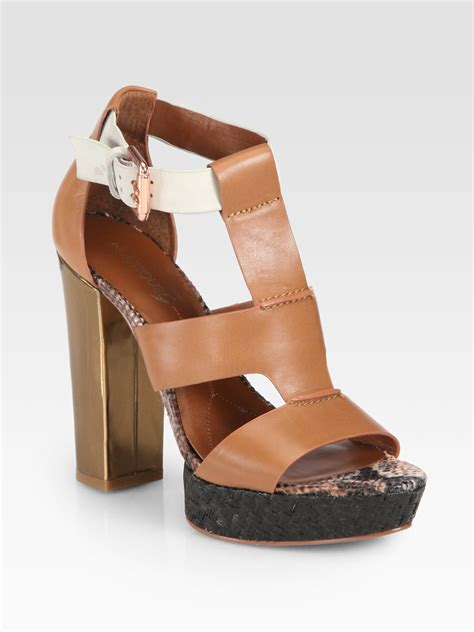 boutique 9 shoes boutique 9 raffiatrimmed leather sandals in brown