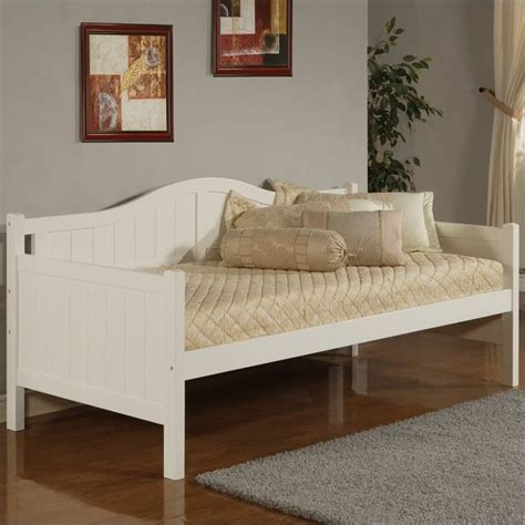wooden day bed hillsdale staci wood white finish daybed ebay