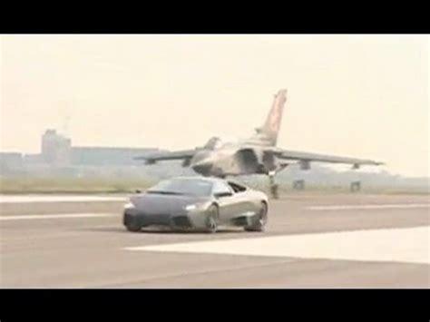 lamborghini jet plane lamborghini reventon vs jet plane