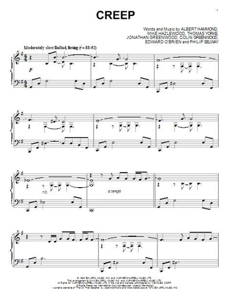 Tutorial Piano Creep | creep sheet music by radiohead piano 94774
